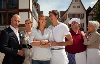 Die Serie 'Laible und Frisch' um zwei konkurriende Bäckerfamilien ist ein großer Erfolg von Schwabenlandfilm in Koproduktion mit dem SWR und Förderung der MFG Filmförderung Baden-Württemberg