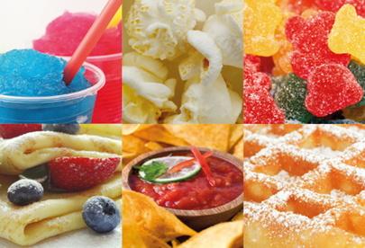 Über 3.000 Artikel auf Lager zum Thema Popcorn, Nachos & Dips, Slush, Süßwaren, Crêpes, Waffeln und mehr.
