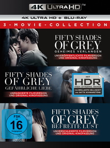 Fifty Shades - 3 Movie Collection (4K Ultra HD + Blu-ray)