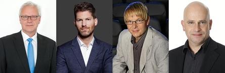 Diskutieren über Ultra-HD Blu-ray (v.l.): Dieter Lubberich (Cinram), Simon Busch (Busch Media), Frank Brill (Fox) sowie Berater Axel Köhler