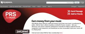 Richten sich gemeinsam an britische Autoren: PRS For Music und MySpace