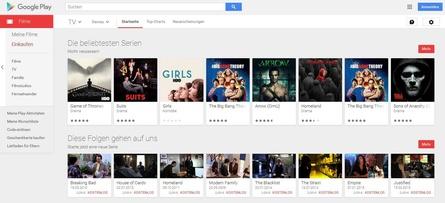 Google Play Movies bietet jetzt auch TV-Downloads an