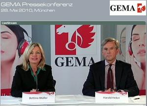 Klärten auf: GEMA-Sprecherin Bettina Müller und Harald Heker