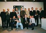 Die Preisträger des Cinec-Award 2002, ganz rechts mit dem Leiter der Bayerischen Staatskanzlei, Erwin Huber