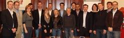 FAM-Geschäftsführer Oliver Trettin (l.) und der Arbeitskreis Buchhandel begrüßten mehrere Gäste