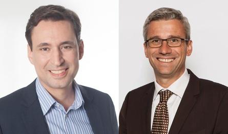 Medienminister Georg Eisenreich und Computec-CEO Hans Ippisch