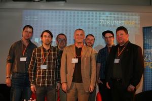 Diskutierten über das Livegeschäft (v.l.n.r.): Christian Pertschy, Robing Ebinger, Manfred Gillig-Degrave, Hubert Wandjo, Malte Graubner, Dominic Pohlmann und Dieter Schubert