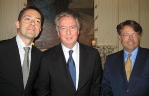 Nannten Details zum DEAG-Deal (v.l.n.r.): Bogdan Roscic, Rolf Schmidt-Holtz und Peter Schwenkow