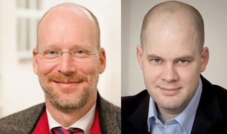 Prof. Dr. Oliver Castendyk und Prof. Dr. Jörg Müller-Lietzkow (v.l.)