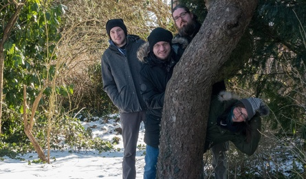 Tina Heitmann, Christoph Rienäcker, Nils Ohlig und Lukas Köhne sind Barrel Roll Games