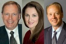 Zufrieden mit dem Urteil (v.l.): Bo Andersen (EMA), Patricia Vance (ESRB) und Michael Gallagher (ESA)