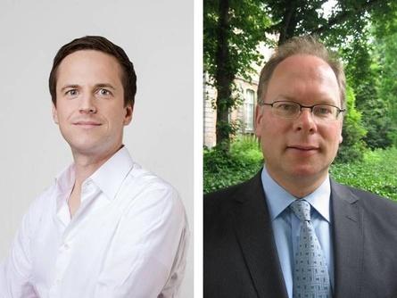 Kündgten Ende Mai die Fusion an: Oliver Strutynski (Aeria) und Remco Westermann (gamigo, l.)