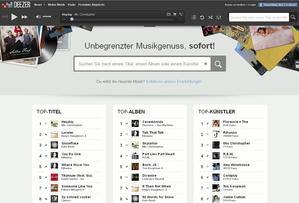 Ab sofort in ganz Europa verfügbar: Deezer (Bild: Screenshot Deezer)