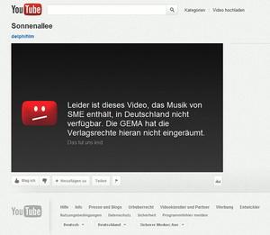 Am 7. Dezember 2011 vorübergehend nicht im Programm ... (Bild: YouTube.com, Screenshot)