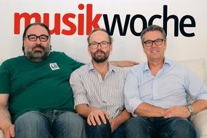 Auf der MusikWoche-Couch (von links): Norbert Schiegl, Knut Schlinger und Ulrich Höcherl (Bild: MusikWoche)