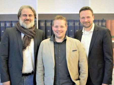 Carsten Fichtelmann, Oliver Machek und Stephan Harms (v.l.) (Bild: Daedalic)