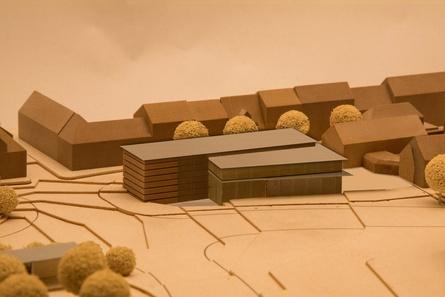 Der Entwurf des neuen Kinokomplexes, der Arthouse und Deluxe-Säle in einem Gesamtensemble vereint (Bild: Cinecitta)