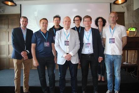 Die Gastgeber des Ticketmaster Forums im Soho House in Berlin: das Ticketmaster-Team um Klaus Zemke (2. von links) (Bild: MusikWoche)