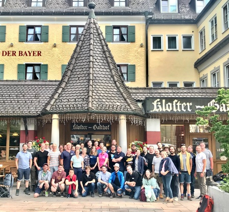 Die Teilmehmer der siebten FFF-Gameswanderung. (Bild: FFF Bayern/Olga Havenetidis)