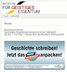 """Fake? Scam? """"Titanic""""?: Eine angebliche Initiative für geistiges Eigentum will am 26. April für ACTA demonstrieren (Bild: Screenshot)"""