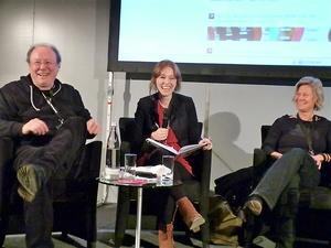 Heitere Talkrunde (von links): Walter Gröbchen, Raffaela Jungbauer, Daniela Leubner (Bild: MusikWoche)