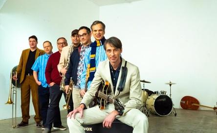 Kann die Veröffentlichung des neuen Albums nicht mehr erleben: Bernd Hartwich (2. von rechts) mit Der Englische Garten (Bild: Nader Safari)