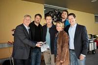 Klaus Graf, Regisseur Andreas Prochaska, Ken Duken, ORF-Redakteurin Sabine Weber, Kameramann Thomas Kiennast und Sam Davis (Bild: Rowboat/Graffilm/Toni Muhr)