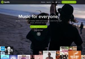 Legt offenbar auf Kosten von Downloads zu: Spotify (Bild: Screenshot/Spotify)