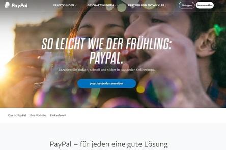 Muss die Adressen der Nutzer bei Verstößen gegen das Urheberrecht offenlegen: PayPal (Bild: screenshot, paypal.de)
