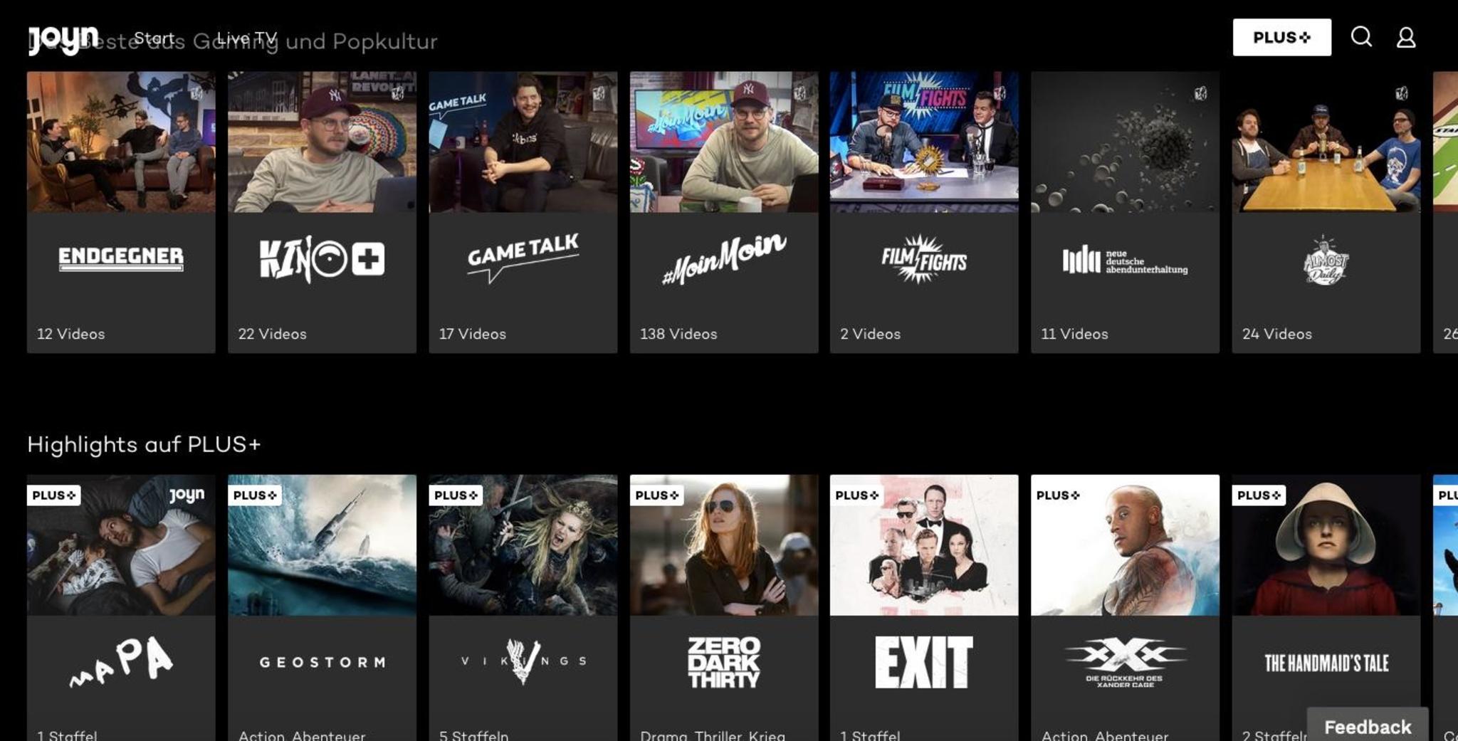 Rocket-Beans-TV-Formate bei Joyn und waipu.tv verfügbar
