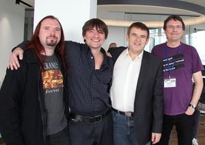Stellten Details zur C3S beim Reeperbahn Festival vor (von links): Meik Michalke, Danny Bruder, Meinhard Starostik und Wolfgang Senges (alle C3S) (Bild: MusikWoche)
