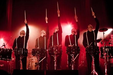 Trommeln zum Jubiläum: Die Schlagzeumafia (Bild: Thorsten Dirr)