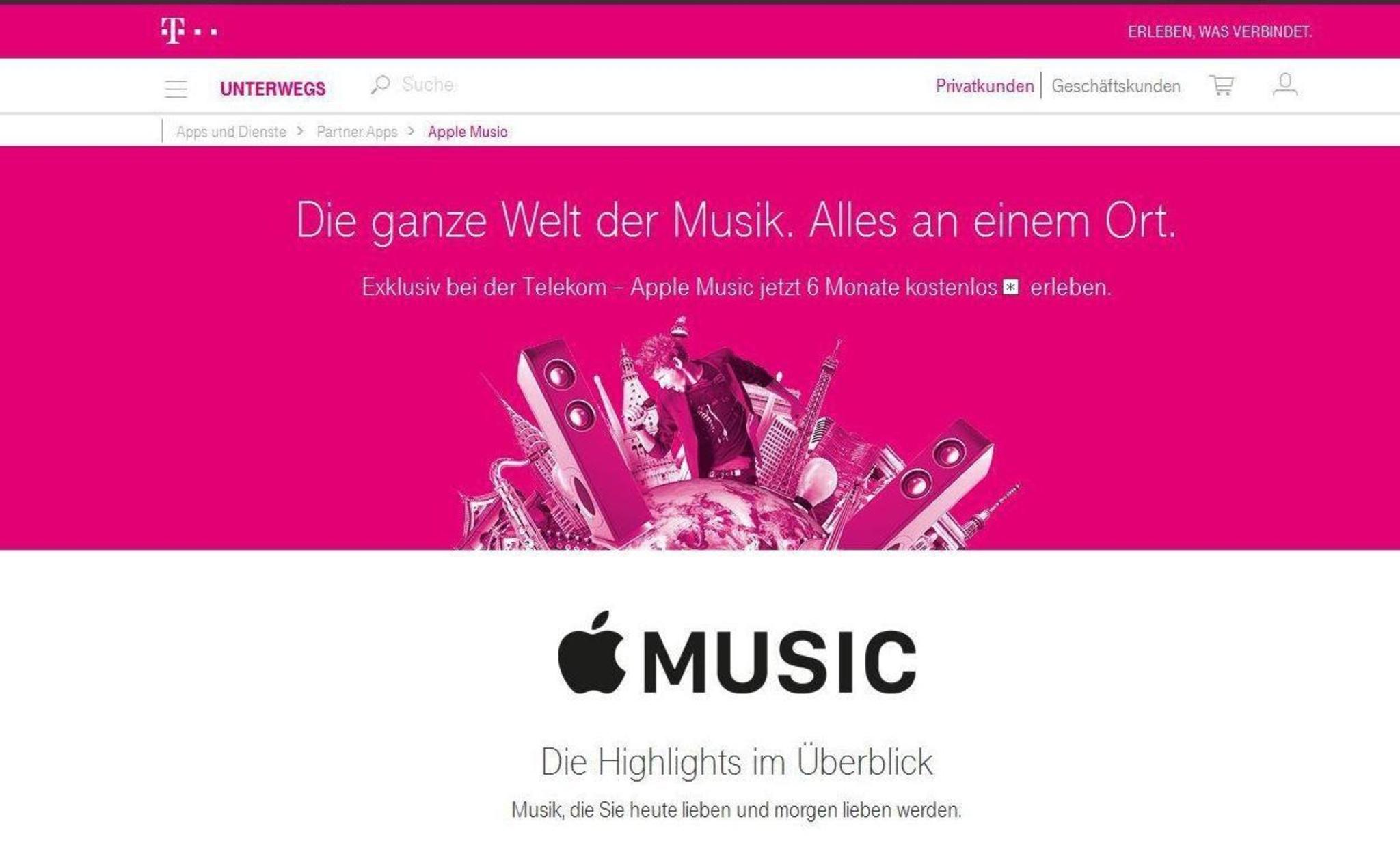 Telekom Schnürt Apple Music In Ein Marketingpaket Ein