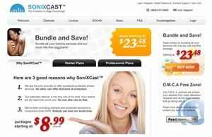 Will Webradiomachern eine Paketlösung bieten: Der kanadische Anbieter Sonixcast (Bild: sonixcast.net, Screenshot)