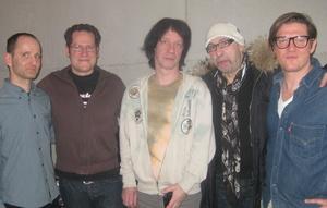 Neue Partner (v.l.n.r.) Julius Kallinis (Intergroove), Michael Weigand (Intergroove), Wilfried Pinnau (M.i.G.), Manfred Schütz (M.i.G.) und Olaf Pozsgay (Intergroove)