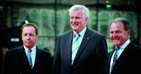 Gerhard Fuchs, Horst Seehofer und Wolfgang Heubisch bei der Eröffnung der HFF München