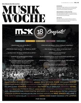 Die E-Paper-Ausgabe der MusikWoche Vol. 42/2018