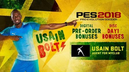 Usain Bolt in PES 2018 spielbar