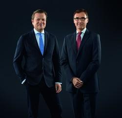 Die neue Doppelspitze der WDR mediagroup: Michael Loeb und Frank Nielebock
