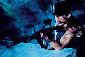 "Linda Hamilton als Sarah Connor in ""Terminator 2 - Tag der Abrechnung"""
