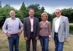Freuen sich auf gute Zusammenarbeit (v.l.): Karl Höffkes, Klaus Schröder, Ursula Schneider und Johannes Haneke