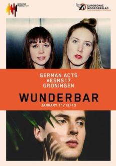 """Treten 2017 beim Showcase-Festival Eurosonic Noorderslag in Groningen auf: Gurr (oben) und Roosevelt (unten) auf dem Cover des """"Wunderbar""""-Planers der Initiative Musik"""