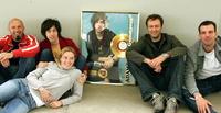 Feierten erstes Gold: Matthias Kringe (TV revolver Promotion), Adam Green, Stefanie Horstmüller (Promotion Assistenz), Frank Ströbele (MD<br /> Sanctuary Records) und Dennis Dührkoop (PM Rough Trade Records)