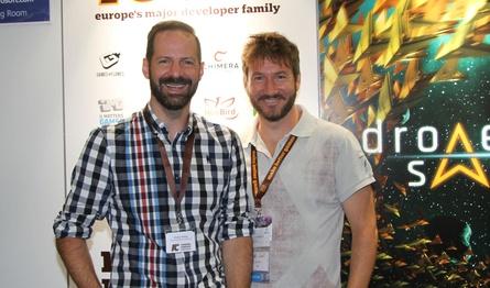 Markus Wilding und Stefan Wehler (v.l.) auf der gamescom 2016 (Archivbild)
