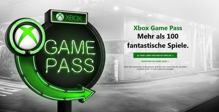 Werbung für den Xbox Game Pass.