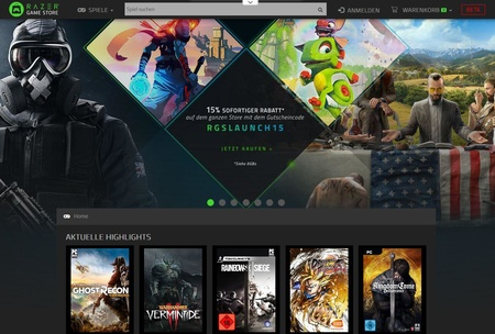 Razer Game Store eröffnet: 15 Rabatt auf alle Spiele