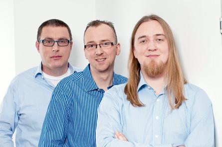 Die Gründer von Handy-Games: Udo Bausewein, Markus Kassulke und Christopher Kassulke