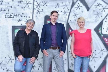 Der neue Gaming-Aid-Vorstand (v.l.): Christiane Gehrke, Jan Malinowski und Svenja Bhatty