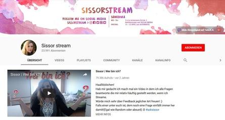 Die KEK hat gegen die Zulassung des Streaming-Angebots Sissorstream keine Einwände (Screenshot)
