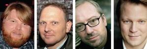 Sie diskutieren auf der Reeperbahn (von links): Andreas Weitkämper (Warner Music), Tom Keil (Ultra Music), Michi Pohl (Kontor New Media), Christian Baierle (Roba)